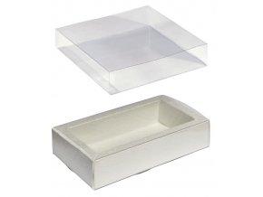 6101 krabicka na pralinky papir obal plast 60x120 v 32mm slonova bridlice 1 ks krabicka