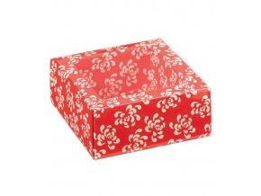 6110 krabicka na pralinky papir obal plast 60x60 v 32mm koral 200 ks kart