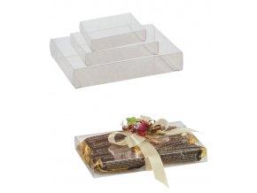 6494 krabicka na pralinky plast 195x140 v 20mm 10 ks bal