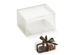 6155 krabicka na pralinky plast 80x60 v 40 mm pruhledna 10 ks bal