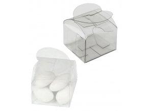 6233 krabicka plast na pralinku mandle 38x38 v 26 mm srdce 1 ks krabicka