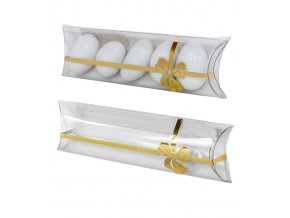 6254 krabicka svatebni plast 100x38 mm masle zlata 1 ks krabicka