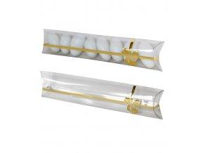 6257 krabicka svatebni plast 150x38 mm masle zlata 1 ks krabicka
