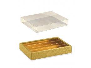 6317 krabicka rozdelovac v 35mm obal plast 215x145 kuze zlata 10 ks bal