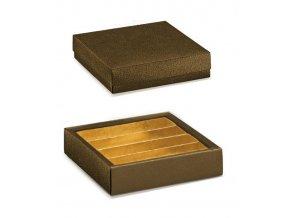 6320 krabicka rozdelovac v 35mm viko 145x145 kuze hneda 10 ks bal