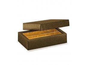 6326 krabicka rozdelovac v 35mm viko 145x75 kuze hneda 10 ks bal