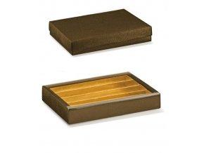 6329 krabicka rozdelovac v 35mm viko 215x145 kuze hneda 10 ks bal