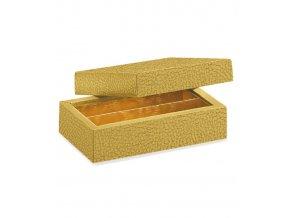 6347 krabicka rozdelovac viko 145x75 kuze zlata 50 ks kart