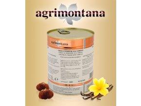 1538 krem kastanovy s vanilkou bourbon agrimontana hladky 1 kg plechovka