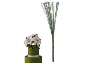 12620 kvetinove stonky dratky zelene 1 0mm 100 g bal