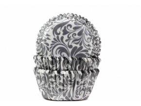 Košíček na muffiny oriental stříbrný