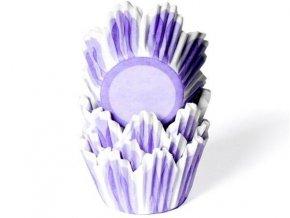 Papírový košíček na muffiny fialový tulipán 50ks