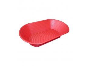 8195 osatka na chleb 1000 g ovalna cervena 29x18cm polypropylen