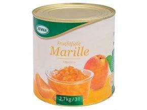 1631 ovocna napln s kusy ovoce 70 senna merunka 2 7 kg plechovka