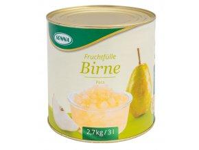 1637 ovocna napln s kusy ovoce70 senna hruska 2 7 kg plechovka