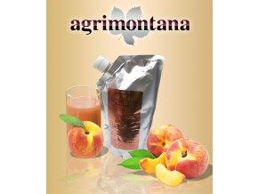 2147 ovocne pyre 90 prirodni broskev 1 kg aseptic bag