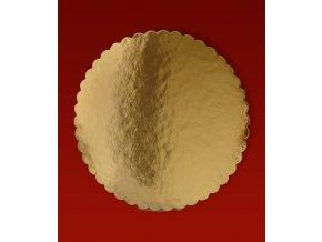 6725 podlozka dortova 2400 lem prum 44cm zlato zlata 10 kg cca 27ks bal