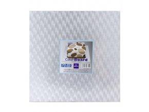 6761 podlozka dortova 30 5x30 5 tl 1 2cm stribrna 1 ks podlozka