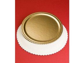 6779 podlozka dortova ala 2000 prum 38cm zlata 1 ks podlozka