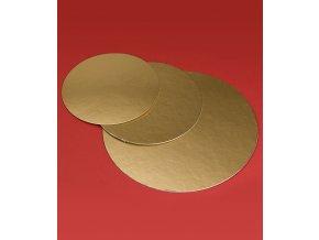 6803 podlozka dortova francie1050 prum 26cm zlata 100 ks bal