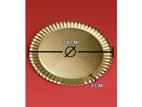 6827 podlozka dortova girasole prum 24cm zlata 50 ks bal