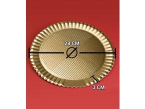 6833 podlozka dortova girasole prum 28cm zlata 50 ks bal