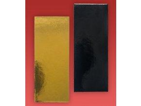 6926 podlozka minidezert 2400 13x4cm zlato cerna 100 ks bal