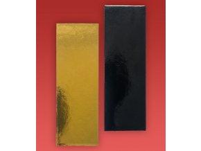 6929 podlozka minidezert 2400 15x4cm zlato cerna 100 ks bal
