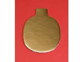 6944 podlozka papir zlata minidezert 10x6 5cm oval 200 ks bal