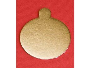 6965 podlozka papir zlata minidezert prum 7cm kulata 200 ks bal