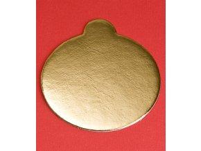 6968 podlozka papir zlata minidezert prum 8cm kulata 200 ks bal