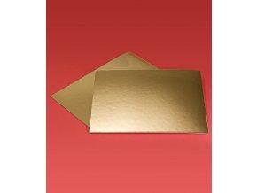 6971 podlozka papir zlata minidezert 7x7cm ctverec 200ks bal