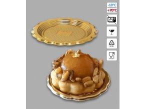 6998 podlozka pet pod dort mini golden age prum 6cm zlata 100 ks bal