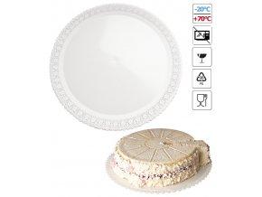 7115 podlozka pod dort s krajkou plast prum 45cm bila 3 ks bal