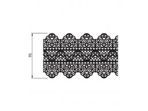 12731 podlozka silikonova krajka dekor 2x pas 20x40 cm