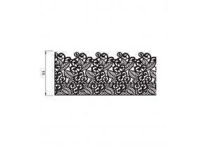 12728 podlozka silikonova krajka dekor 2x pas 20x40 cm