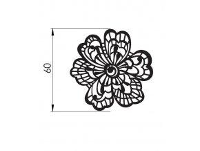 12758 podlozka silikonova krajka dekor jednotlive kvetina 8x40cm