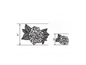 12767 podlozka silikonova krajka dekor jednotlive ruze 8x40 cm