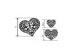 12770 podlozka silikonova krajka dekor jednotlive srdce 8x40 cm