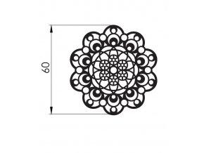 12785 podlozka silikonova krajka dekor jednotlive 8x40 cm
