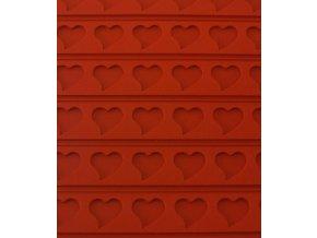 11234 podlozka silikonova s reliefem srdce 60x40cm
