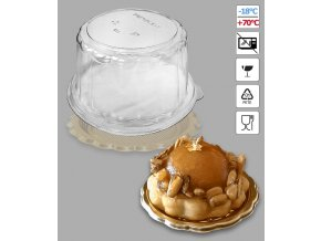 7163 poklop k podlozce na dort prum 16 2 v 9cm plast 50 ks bal