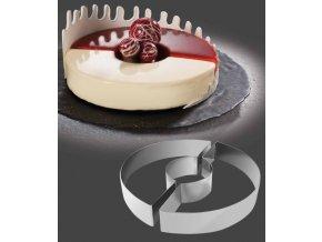 11429 rafek dortovy nerez 2 dilny kruh prum 24cm v 4cm