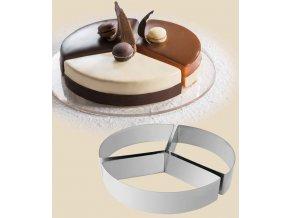 11465 rafek dortovy nerez 3 dilny kruh prum 22cm v 4cm