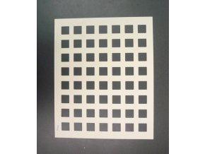 16904 silikon sablona na cokoladu ctverec 56 tvaru sablona