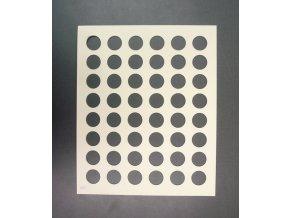 16907 silikon sablona na cokoladu kolecko 48 tvaru sablona