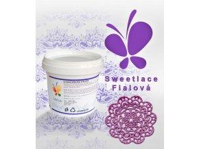 1343 sladka krajka sweet lace hotova perletove fialova 200 g kbelicek