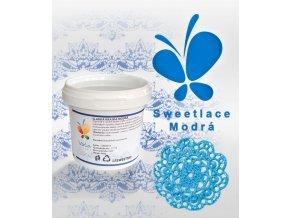1352 sladka krajka sweet lace hotova af perletove modra 200 g kbelicek