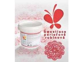 1355 sladka krajka sweet lace hotova af perletove rubinova 200 g kbelicek