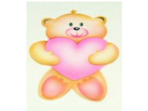 13415 stencil dekoracni medvidek se srdcem 4 krokova